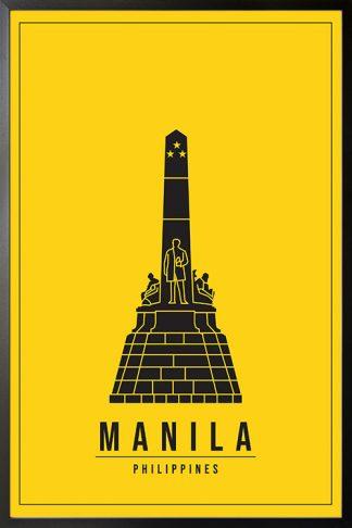 Minimal Manila Philippines poster