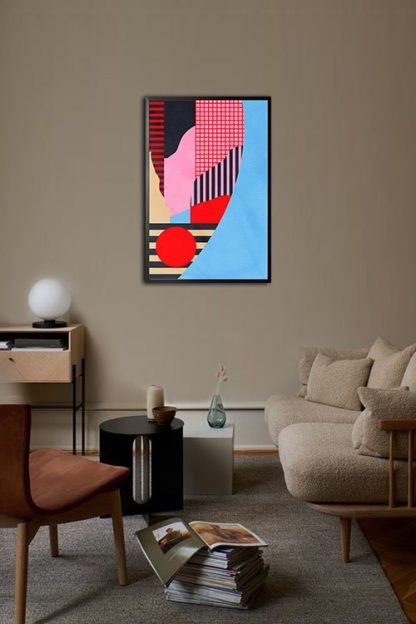 Abstract Collage no. 5 poster in interior