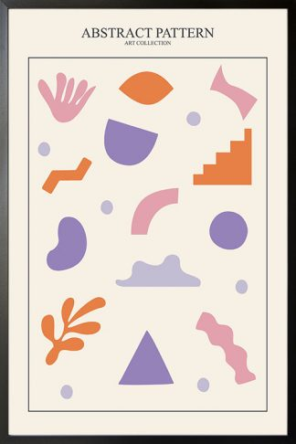 Abstract Pattern art collection no. 1 poster