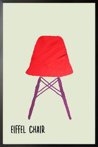 Eiffel chair poster
