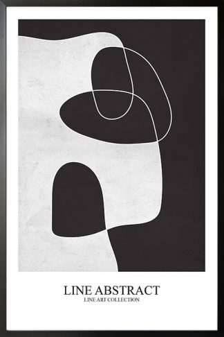 Texture line abstract Black and white no. 1 poster