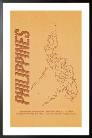 Philipines map and text poster