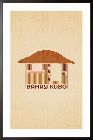 Bahay kubo minimal poster