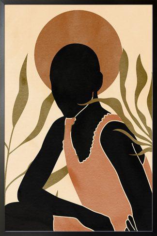Lady in safari no. 2 poster