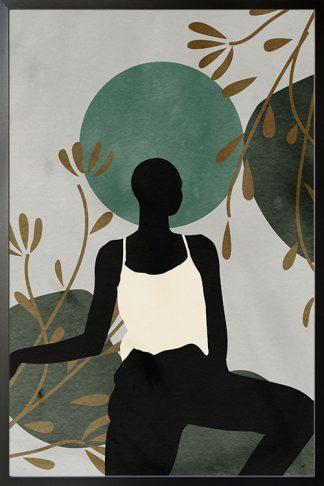 Lady in safari no. 4 poster