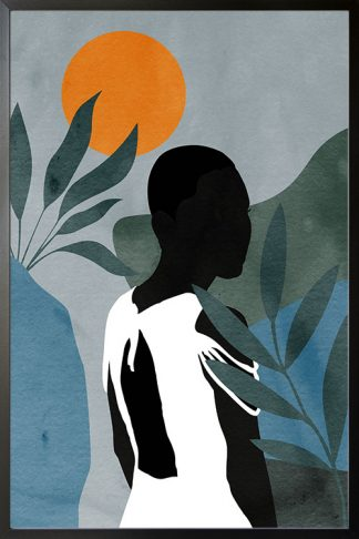 Lady in safari no. 5 poster