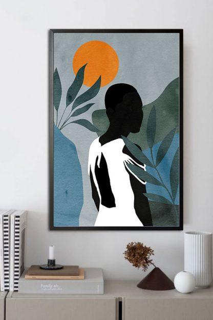 Lady in safari no. 5 poster in interior