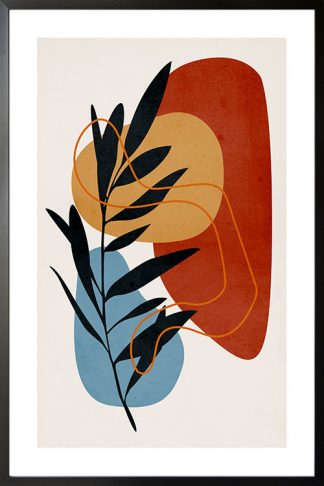 Leaf and abstract shape no. 2 poster