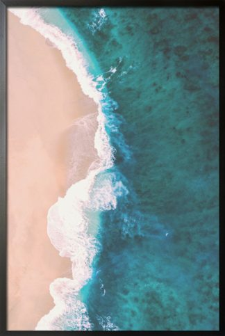 Beach and shore aerial view 3 poster