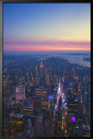 City lights and sky poster