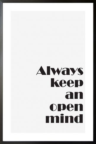 Always keep an open mind poster