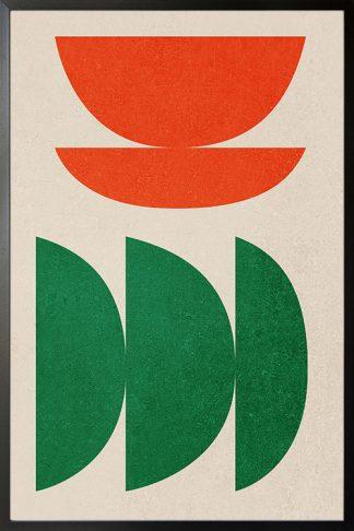 Half circle orange and green poster