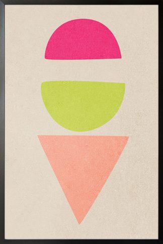 Ice cream shape poster