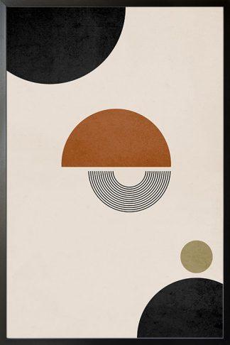 Boho Half circles and lines poster