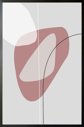 Pink tone shape and lines no. 2 poster