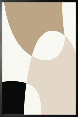Beige tone shapes poster
