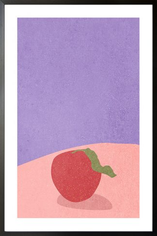 Apple or strawberry poster