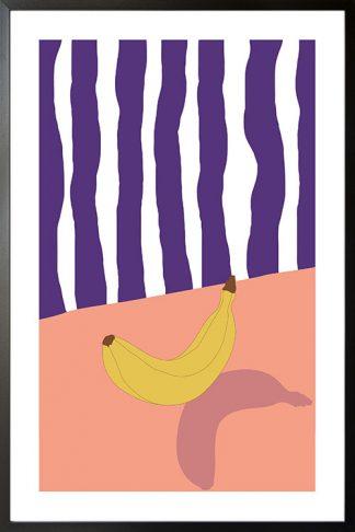 Banana and violet stripe poster