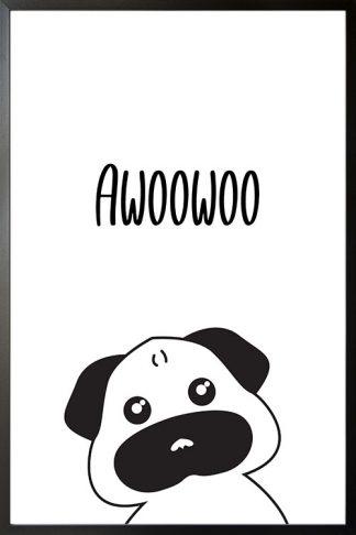 Pug awoowoo poster