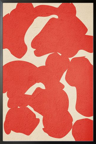 Orange Color abstract shapes poster