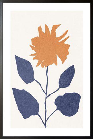 Grunge neutral flower poster