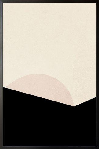 Abstract Minimal tone and shape no. 1 poster