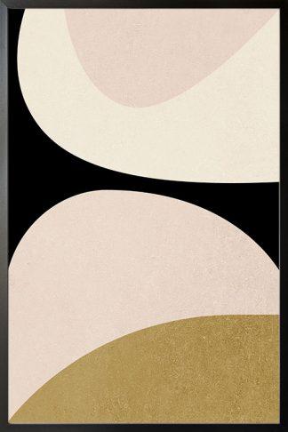 Abstract Minimal tone and shape no. 2 poster