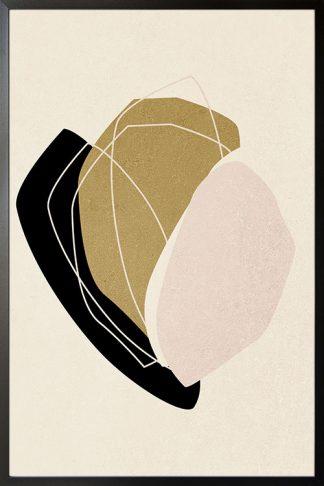 Abstract Minimal tone and shape no. 5 poster