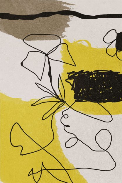 Abstract hand drawn no. 1 poster