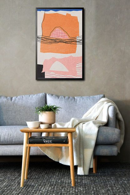 Abstract hand drawn no. 2 poster in interior
