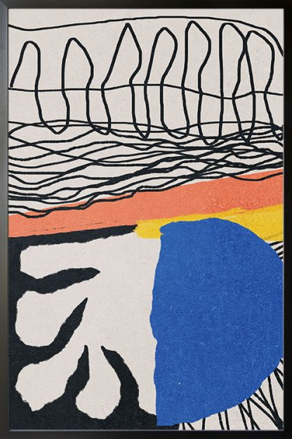 Abstract hand drawn no. 4 poster