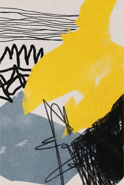 Abstract hand drawn no. 5 poster