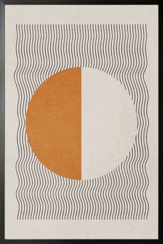 Graphical lines and half circle no. 1 poster