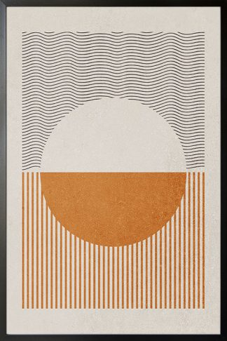 Graphical lines and half circle no. 2 poster
