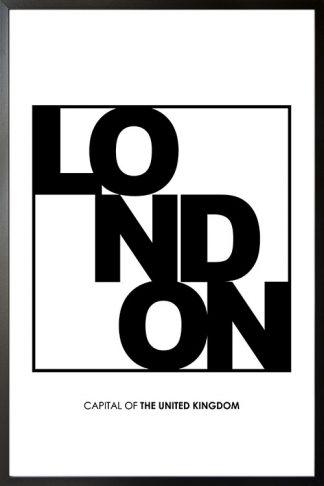 London Typo poster