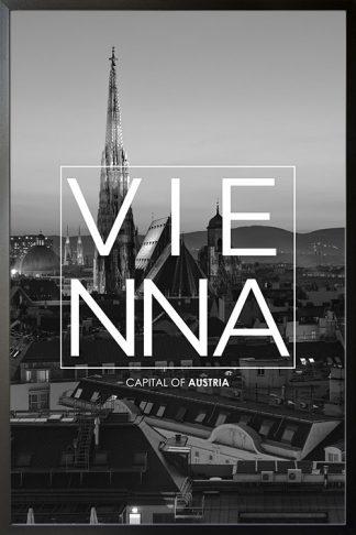 Vienna B&W Typo poster