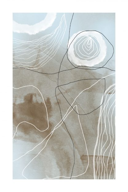Neutral Tone paint and lines no. 3 poster