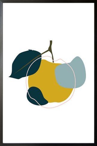 Abstract Apple poster