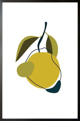 Abstract Lemon poster