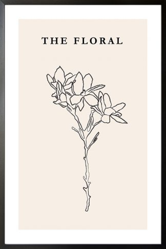 The floral no. 1 poster