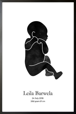 Baby Watercolor silhouette personal poster