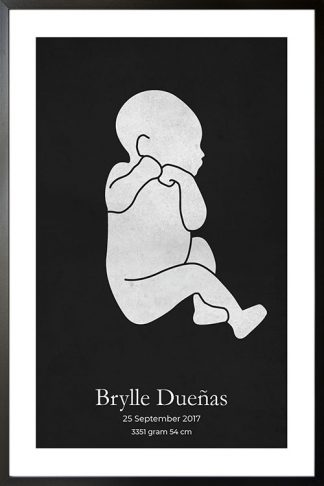 Baby Watercolor reverse personal poster